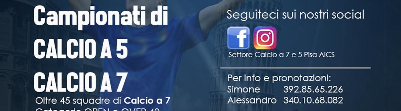La Tua Stagione 2021/22 di Calcio a 7 e di Calcio a 5…giocala con noi!